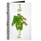 Green Fancy Frog Journal