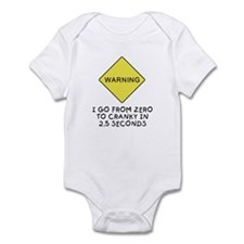 Zero to cranky Infant Bodysuit