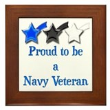 Navy Vet Framed Tile
