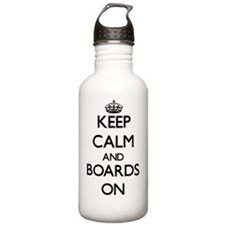 Keep Calm and Boards O Water Bottle