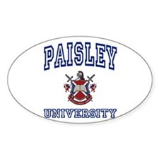 PAISLEY University Oval Decal