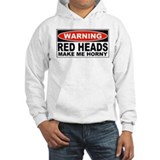 Warning Red Heads Make Me Horny Jumper Hoody