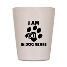50th Birthday Dog Years Shot Glass