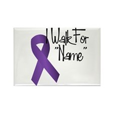 I Walk For Rectangle Magnet (10 pack)
