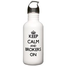 Keep Calm and Brokers Water Bottle
