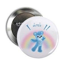 "Rainbow Bear First Birthday Boy 2.25"" Button"