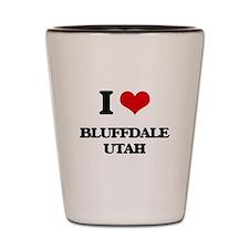 I love Bluffdale Utah Shot Glass