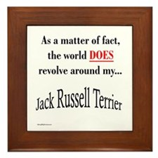 Jack Russell World Framed Tile