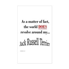 Jack Russell World Rectangle Decal