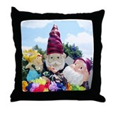Cute Garden gnome. lawn gnome Throw Pillow