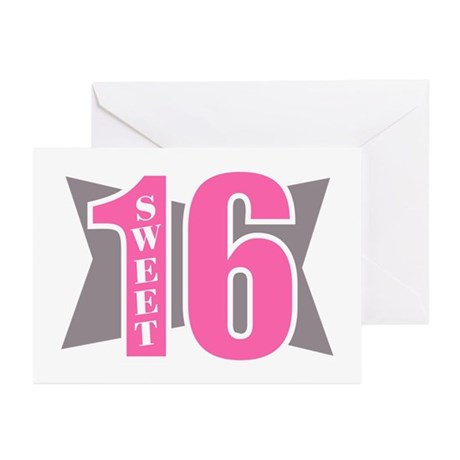Sweet 16 (Abstract) Greeting Cards (Pk of 10)