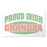 Proud Irish Grandpa Rectangle Decal