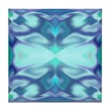 'Blue Tulips' Tile Coaster
