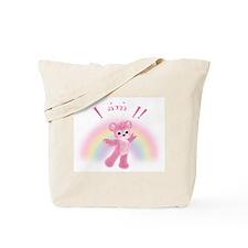 Rainbow Bear First Birthday Girl Tote Bag