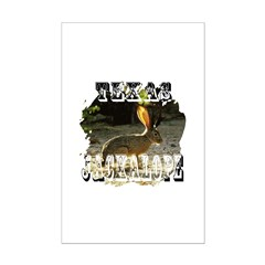 Texas Jackalope Mini Poster Print