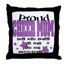Proud Cheer Mom Throw Pillow