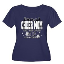 Proud Cheer Mom Women's Plus Size Scoop Neck Dark