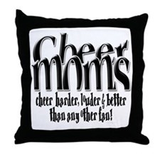 Cheer Moms Throw Pillow