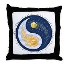 Sun-Moon Throw Pillow