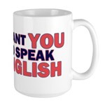 Uncle Sam says Speak English! Large Mug