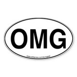 OMG Eurogeek Oval Decal