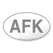 AFK Eurogeek Oval Decal