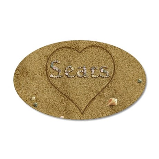Sears Beach Love 35x21 Oval Wall Decal