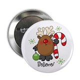 "Believe Reindeer 2.25"" Button"