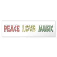 Peace Love Music Bumper Bumper Sticker