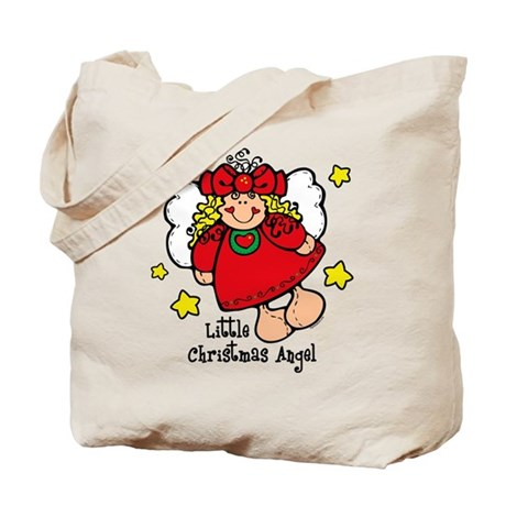 Little Christmas Angel Tote Bag