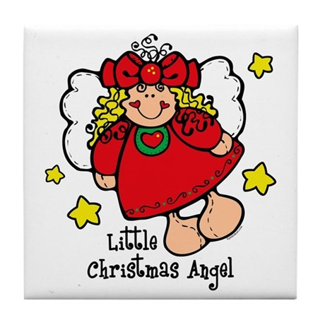 Little Christmas Angel Tile Coaster