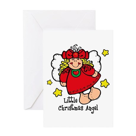 Little Christmas Angel Greeting Card