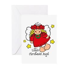 Little Christmas Angel Greeting Card