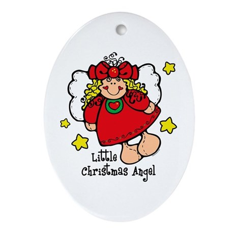 Little Christmas Angel Keepsake (Oval)