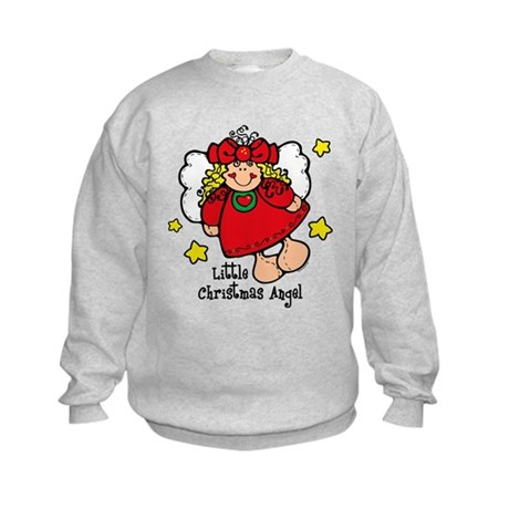 Little Christmas Angel Kids Sweatshirt