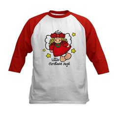 Little Christmas Angel Kids Baseball Jersey