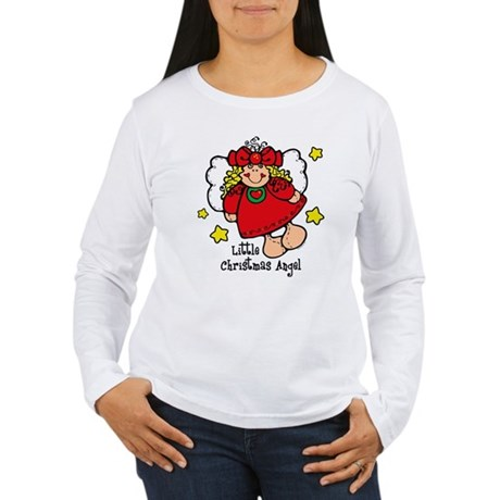 Little Christmas Angel Women's Long Sleeve T-Shirt