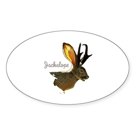 Jackalope Oval Sticker