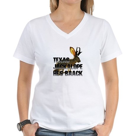 Texas Jackalope Women's V-Neck T-Shirt