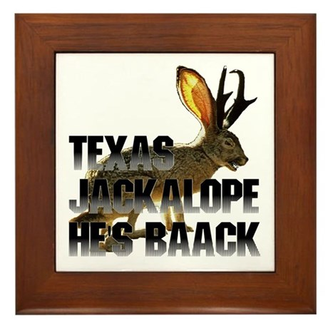 Texas Jackalope Framed Tile