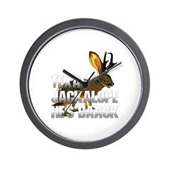 Texas Jackalope Wall Clock