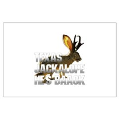 Texas Jackalope Large Poster