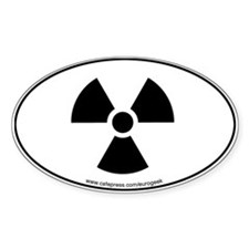 Radioactive Symbol Eurogeek Oval Decal