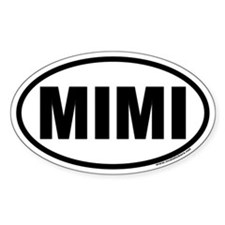 MIMI Oval Car Decal