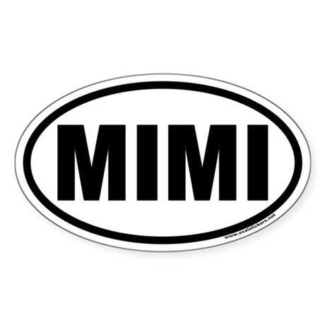 MIMI Oval Car Sticker