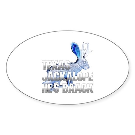 Texas Jackalope Oval Sticker