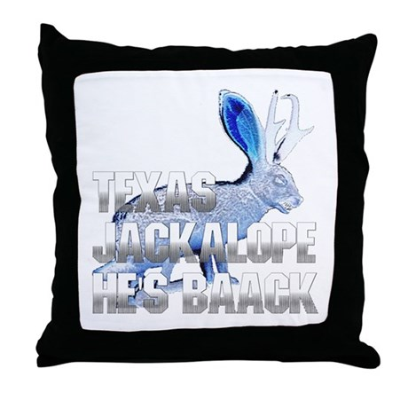 Texas Jackalope Throw Pillow