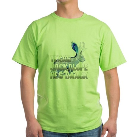 Texas Jackalope Green T-Shirt
