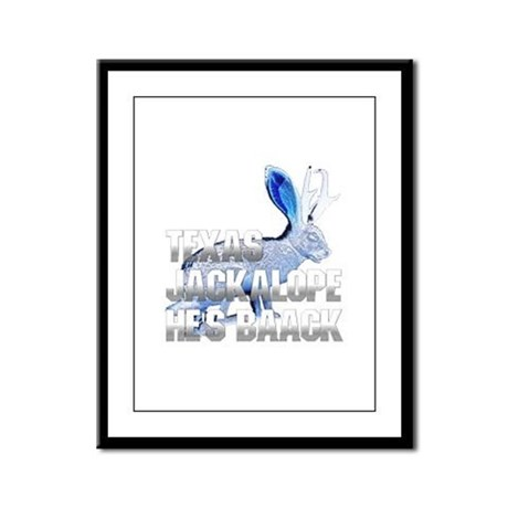 Texas Jackalope Framed Panel Print
