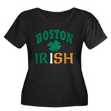 Boston irish Women's Plus Size Scoop Neck Dark T-S
